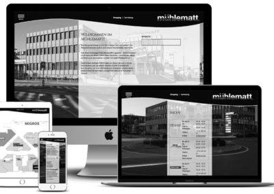 Neue Homepages fürs Mühlematt Shopping und Vermietung