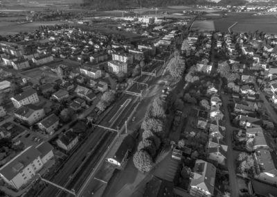 Luftaufnahmen Lengnau SBB Immobilien